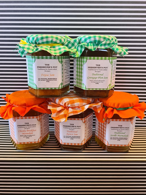 Preservers Pot Assorted Jams and Marmalades