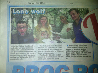 'Little Red Riding Hood' cast featured in the Wimbledon Guardian