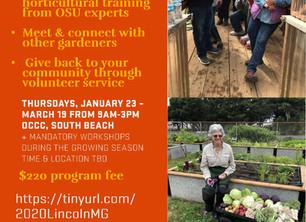Registration for 2020 Master Gardener Class is Open--Act Now!