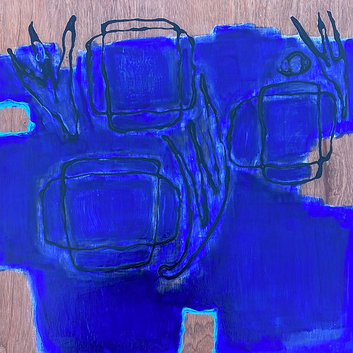 Genii Loci - blue 1 (cobblestones and weeds)