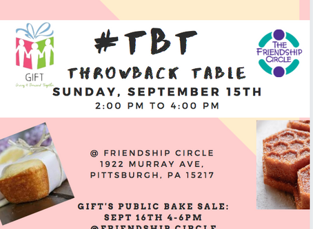 GIFT's #TBT bake sale