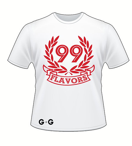 99 Flavors Red Tee