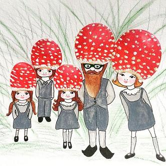 The Musroom family´s family photo