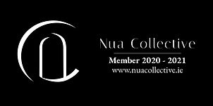 Member Badge - Nua Collective - White on