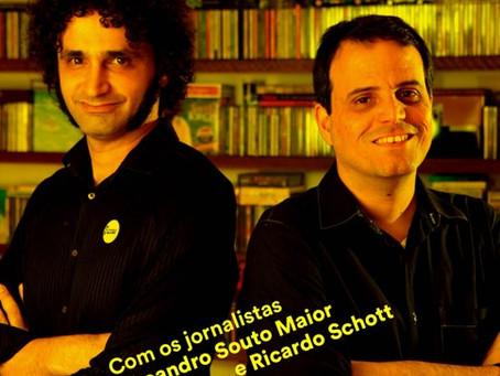 """""""Heróis da Guitarra Brasileira"""", com os jornalistas Leandro Souto Maior e Ricardo Schott"""