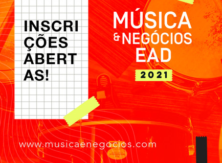 Música & Negócios abre inscrições para 2021
