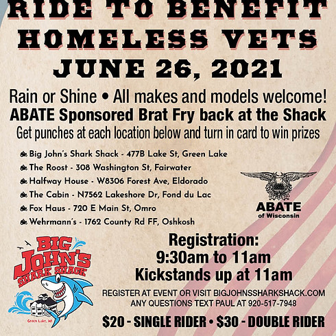 1st Annual Benefit Ride for Homeless Veterans