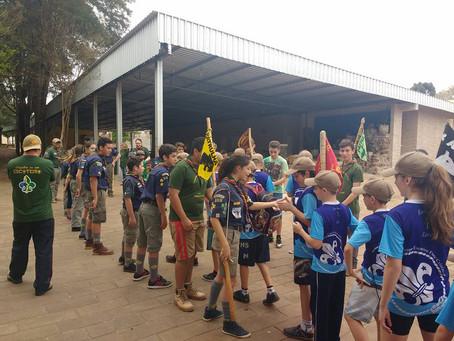 Grupo Escoteiro Araucária recebe visita do Grupo Escoteiro Fonte Cristalina