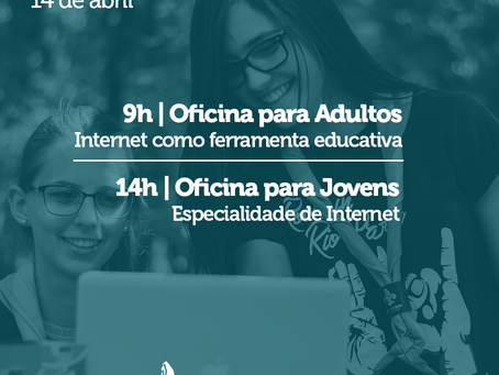 Oficinas sobre uso da Internet no Escotismo