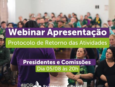 Webinar de Apresentação do Protocolo - Presidentes e Comissões - Agosto 2021