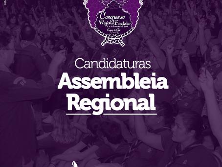 Candidaturas Assembleia Regional 2018