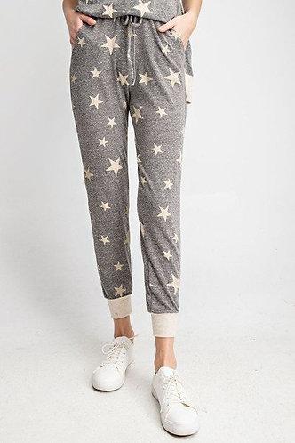 Star Printed Jogger Pants