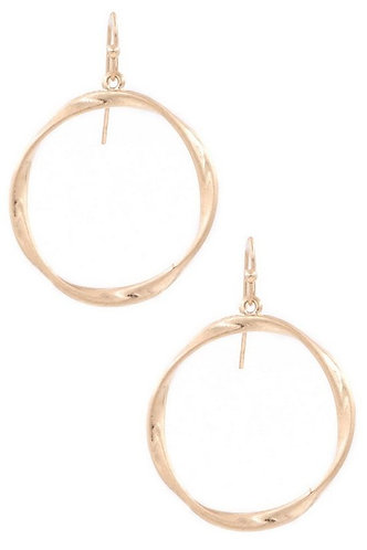 Hammered Metal Ring Drop Earrings