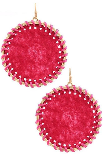 Threaded Circle Drop Earrings