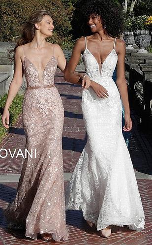 Embellished V Neckline Dress