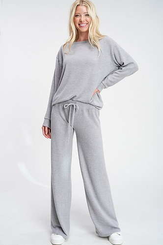 Solid Sleep Loungewear Set