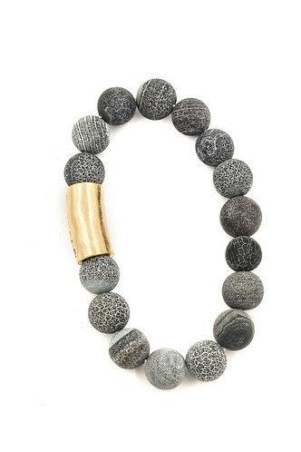 Stone 'FAITH' Engraved Stretch Bracelet