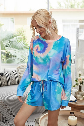 Long Sleeve Swirl Tie-Dye Set