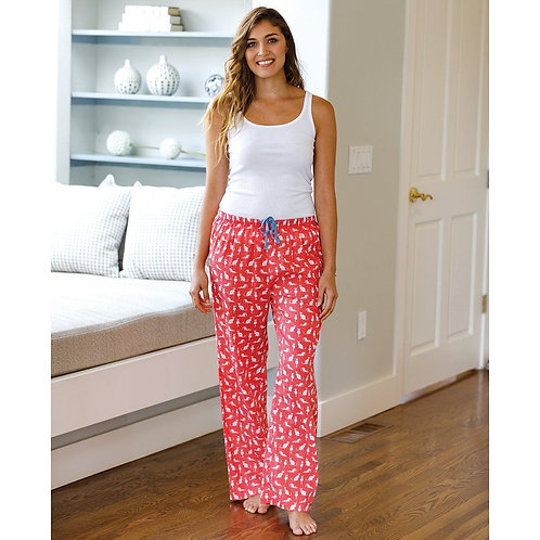Cats Pink Cotton Lounge Pants