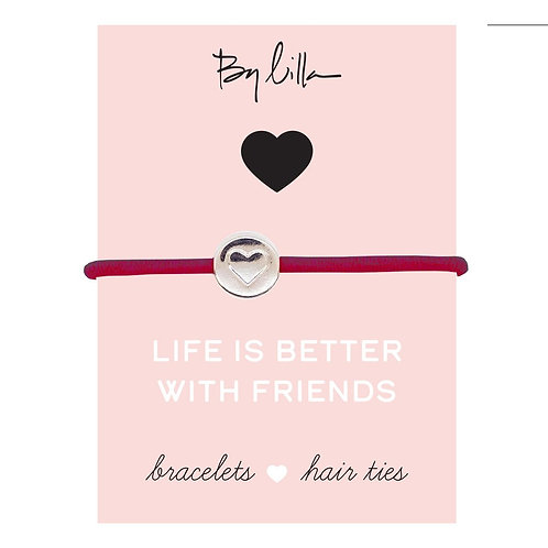 Life Is Better With Friends Bracelet/Hair Tie