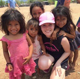 Tara on a trip to a health clinic in Guatemala.
