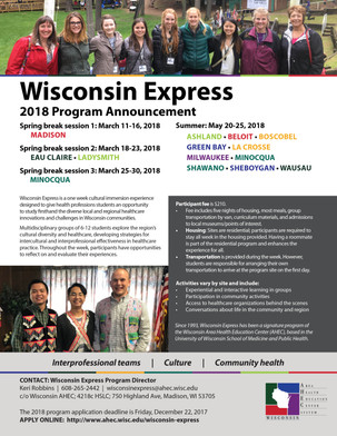 Wisconsin Express 2018 Applications Being Accepted