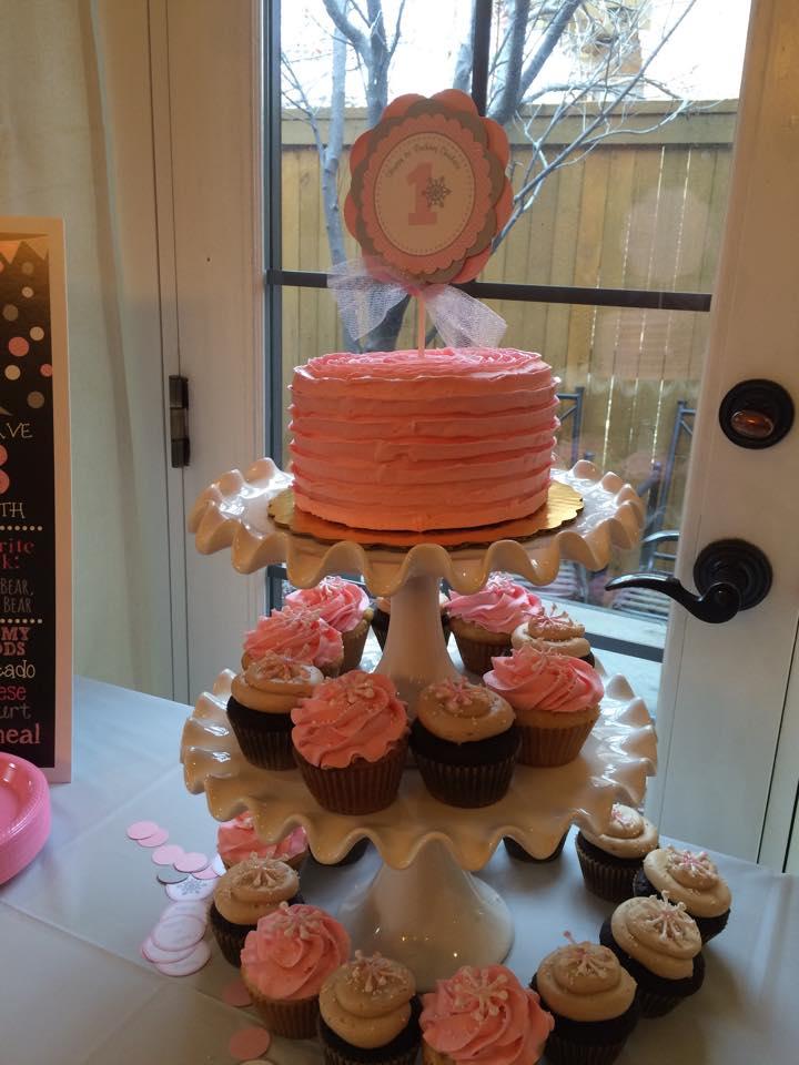 Pink Cupcake Tower