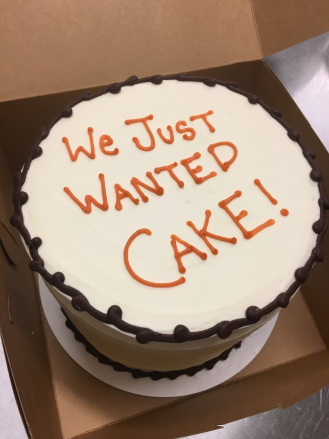 We Just Wanted Cake!