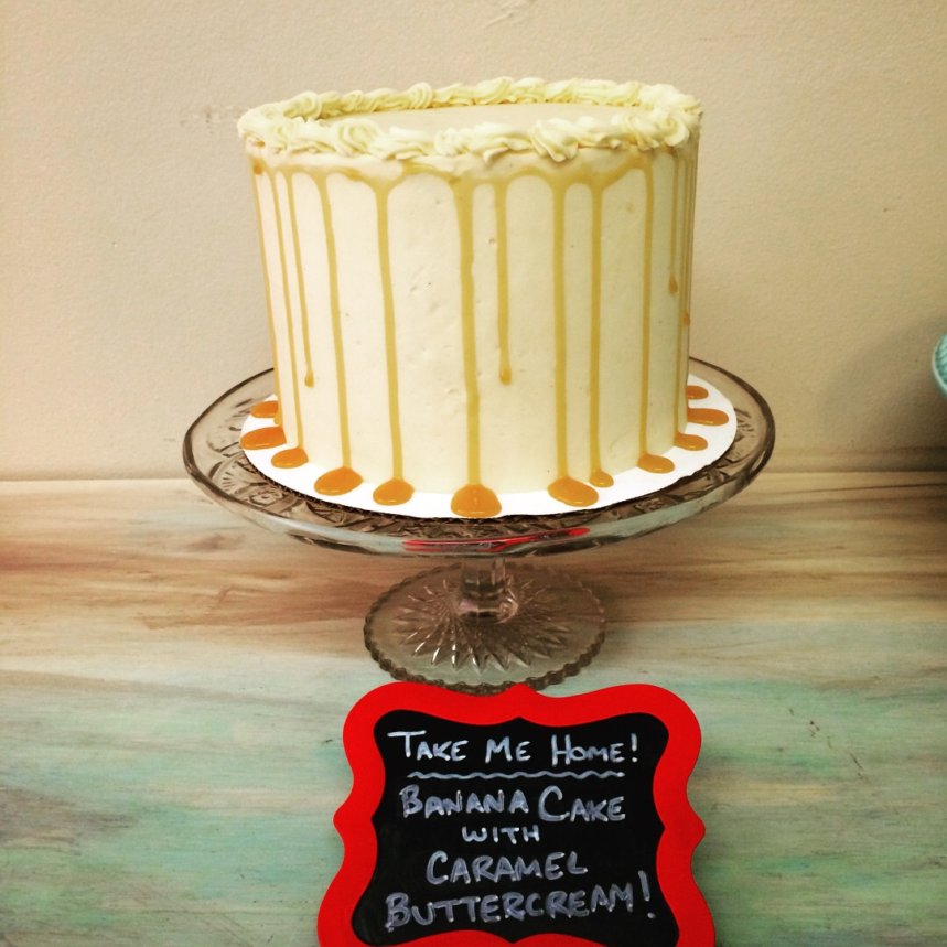 Banana Cake with Caramel Buttercream