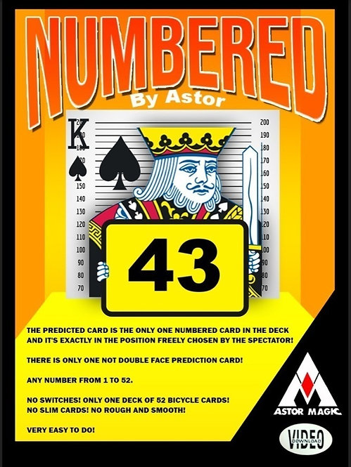 NUMBERED