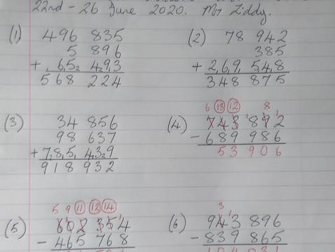 Sixth Class Maths Answers Mr Liddy 22nd-26th June.