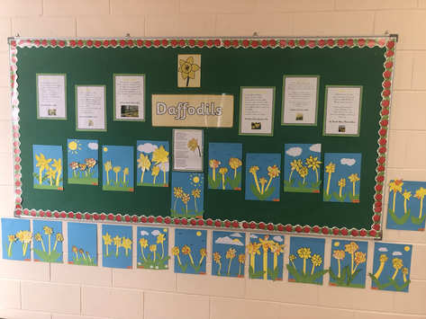 Golden Daffodils by Sixth Class🌼