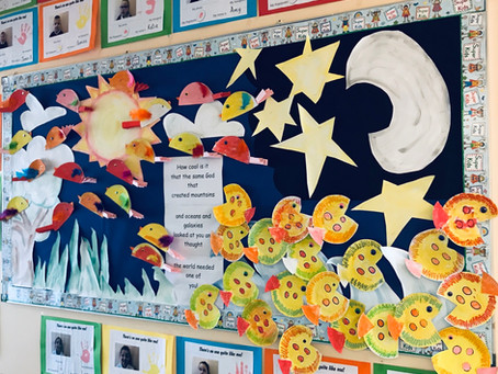 Junior Infants creation display