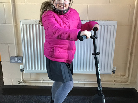 """Some """"Pupils of the Week"""" having fun on scooters 🛴"""