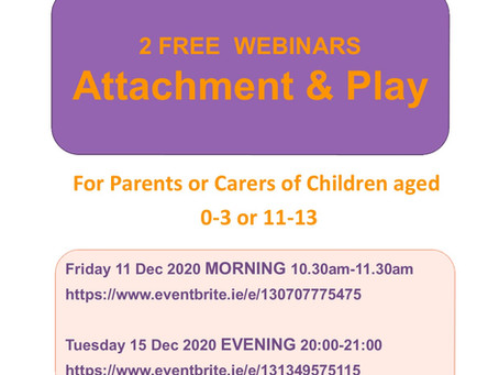 Free Seminars for Parents - Attachment and Play