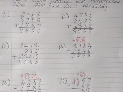 Fourth Class Maths Answers Mr Liddy 22nd-26th June 2020.
