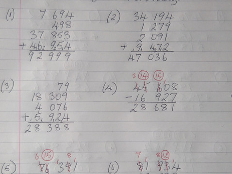 Fifth Class Maths Answers Mr Liddy 22nd-26th June 2020.