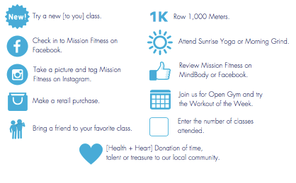 Mission Fitness Holiday Challenge