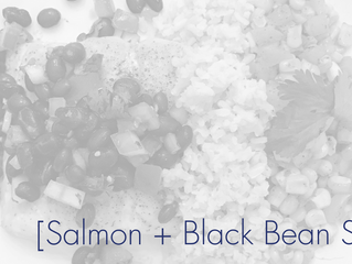 Salmon + Black Bean Salsa