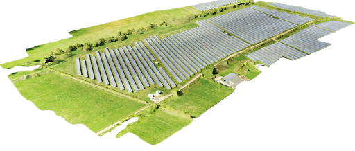 UAV-acquired 3D model of a solar farm