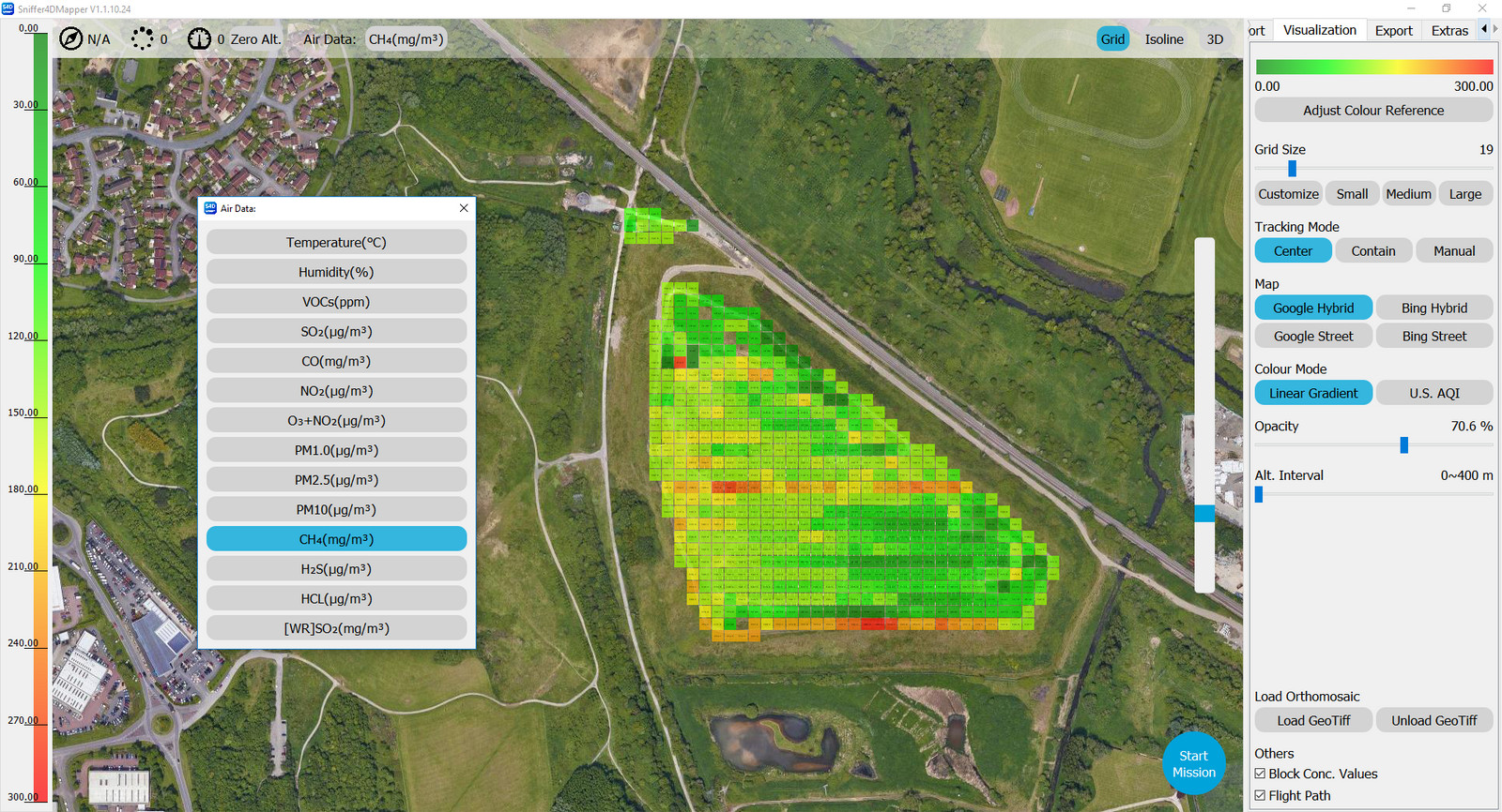 Sniffer-4D Mapper software