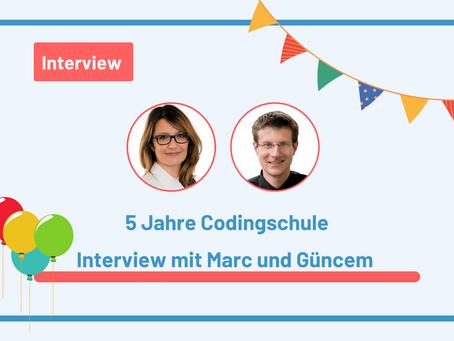 5 Jahre Codingschule: Güncem und Marc im Interview