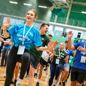 Corporate event photography at a corporate sports day