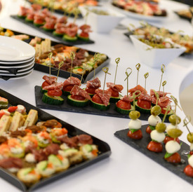 Corporate event photography of a selection of food
