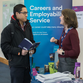 Corporate event photography at a recruitment fair