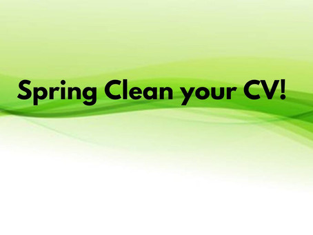 Spring Clean your CV!