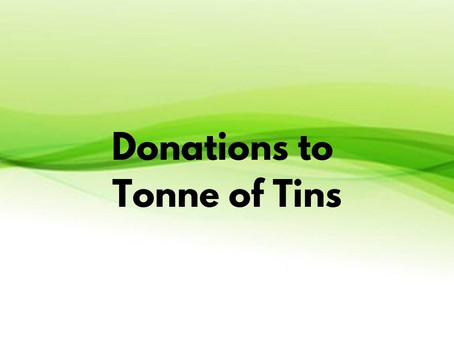 Donations to Tonne of Tins