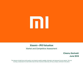 Xiaomi Enterprise Valuation Assessment