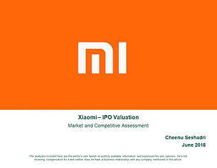 Xiaomi Enterprise Valuation Assessment