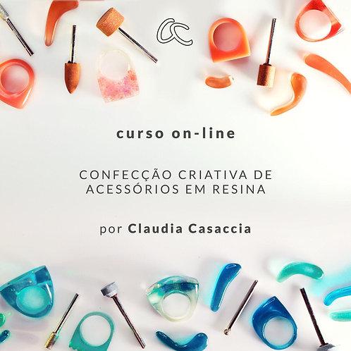 CURSO ON-LINE - CONFECÇÃO CRIATIVA DE ACESSÓRIOS EM RESINA